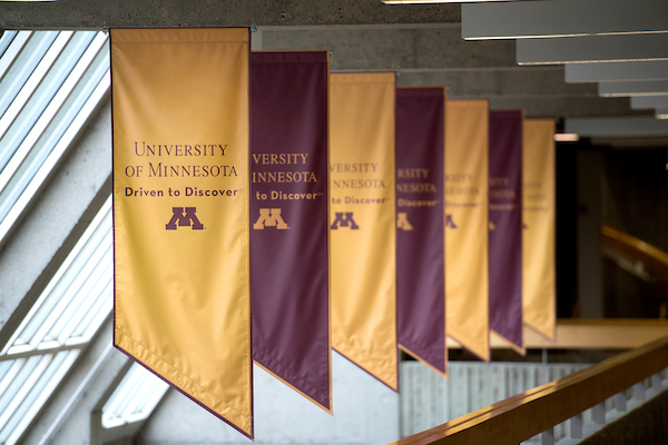UMN driven to discover flags in hallway